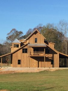 Q8 Log Oil Barn Gray Wood Home