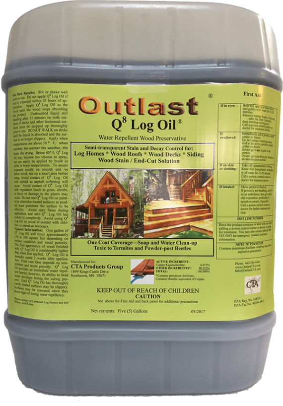 Q8 Log Oil 5 Gallon Jug