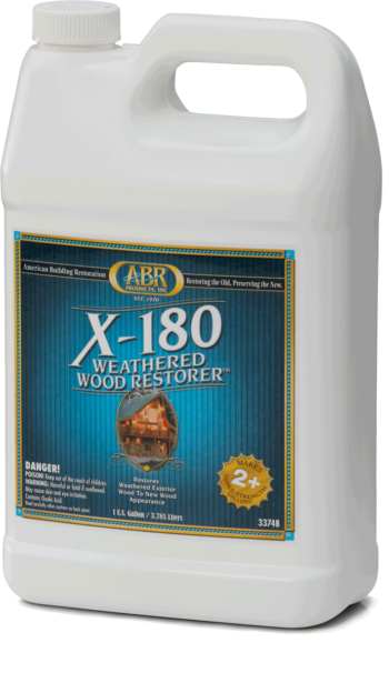 X-180 Weathered Wood Restorer container