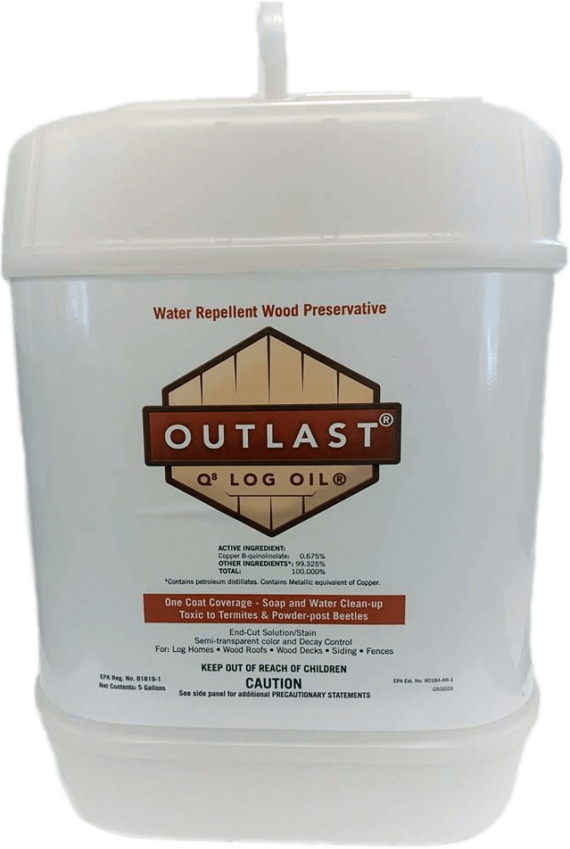 Q8 Log Oil 5 gallon container