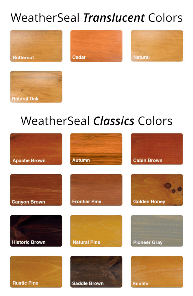 WeatherSeal Stain Colors
