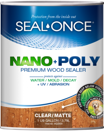 Seal-Once Nano + Poly Premium Wood Sealer for Siding, Logs and Decks 1 gallon pail