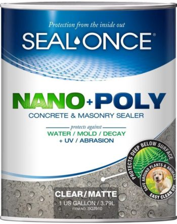 SEAL-ONCE NANO + POLY Concrete and Masonry Sealer 1 gallon can