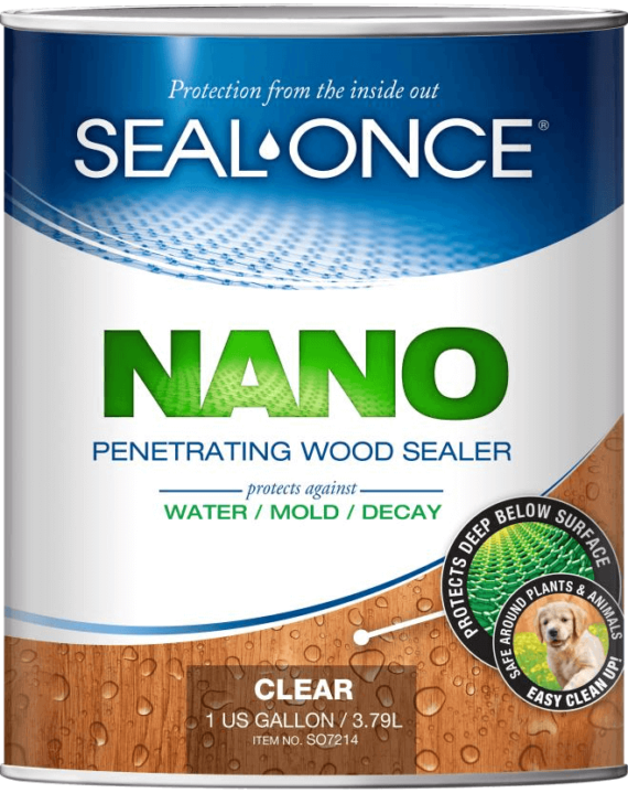 Seal-Once NANO Penetrating Wood Sealer 1 gallon can